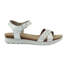 Sandales incrustées Inblu 038 argent gris