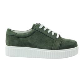 Vert Chaussures en cuir Creepersy Filippo 036