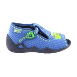 Bleu Befado chaussures pour enfants 217P094