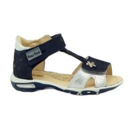Sandales à scratch Bartuś 138 bleu marine