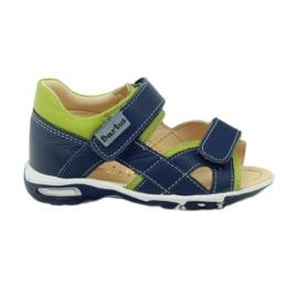 Sandales à scratch Bartuś 137 bleu marine
