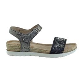 Sandales confortables INBLU silver-graphite gris
