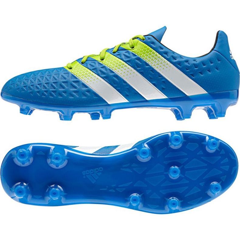 Chaussures de foot adidas Ace 16.3 FG / AG M bleu