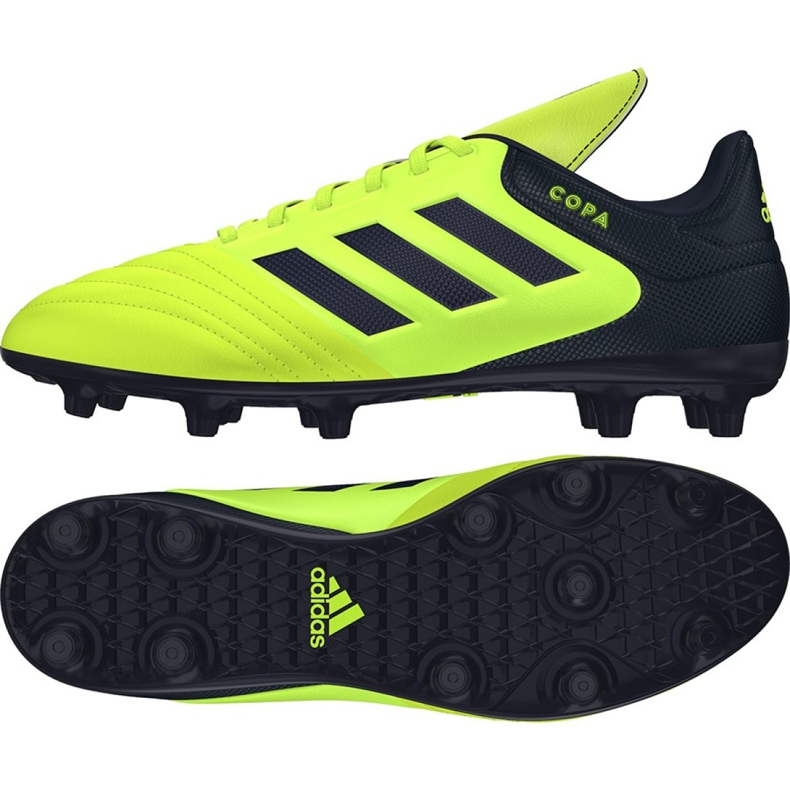 Chaussures de foot adidas Copa 17.3 Fg M S77143 multicolore noir, jaune