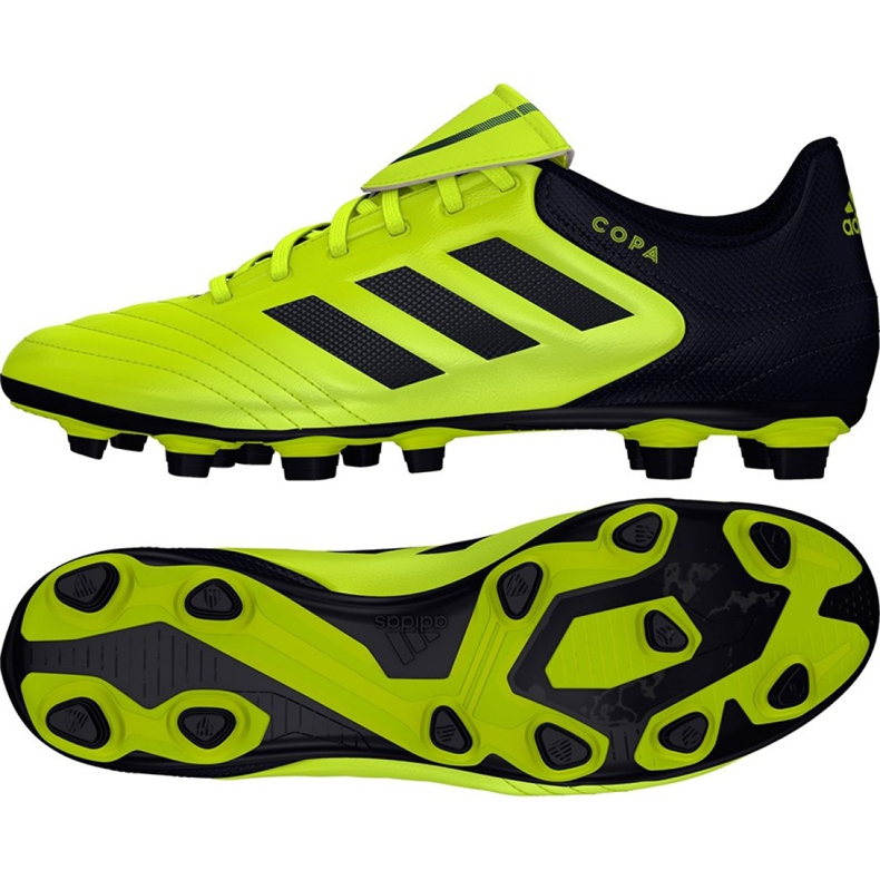 Chaussures de foot adidas Copa 17.4 FxG M S77162 noir, jaune noir