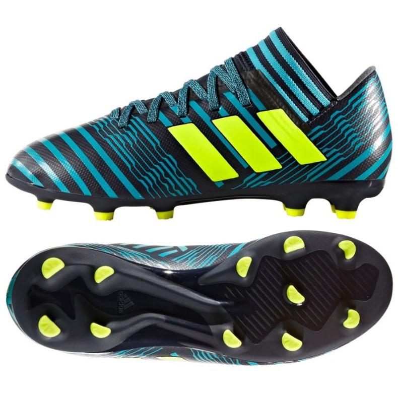 Chaussures de foot adidas Nemeziz 17.3 Fg Jr bleu