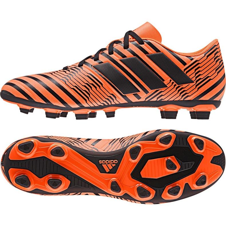Chaussures de foot adidas Nemeziz 17.4 FxG M S80610 orange orange