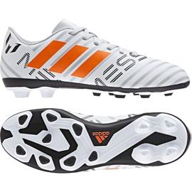 Chaussures de foot adidas Nemeziz Messi 17.4 FxG Jr S77200 blanc