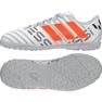 Chaussures de foot adidas Nemeziz Messi 17.4 TF Jr S77207 blanc