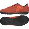 Chaussures de foot adidas X 17.4 Tf Jr S82422 noir, orange orange