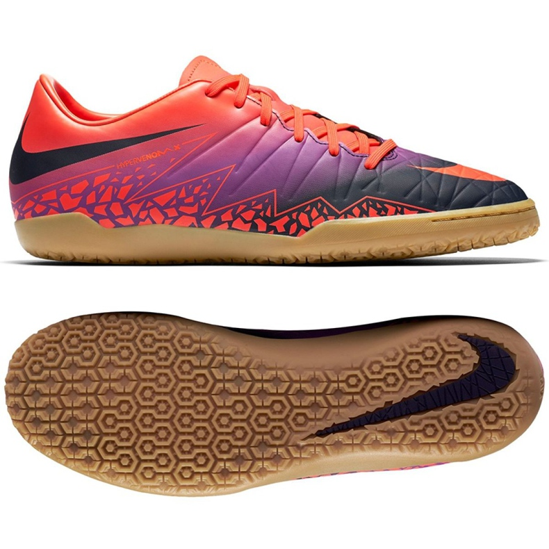 Chaussures d'intérieur Nike Hypervenom Phelon Ii Ic M 749898-845 orange orange, violet