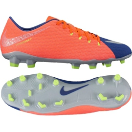 Chaussures de football Nike Hypervenom Phelon Iii Fg M 852556-409 orange noir, violet, orange