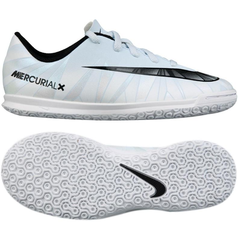 Chaussures d'intérieur Nike MercurialX Victory CR7 Ic Jr 852495-401 blanc