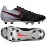 Chaussures de football Nike Tiempo Ligera Iv Fg M 897744-004 noir noir, gris / argent