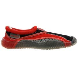 Aqua-Speed Jr. chaussures de plage en néoprène rouge-gris