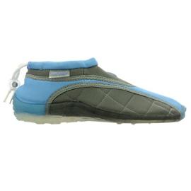 Aqua-Speed Jr. chaussures de plage en néoprène bleu-gris