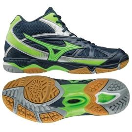 Chaussures de volley-ball Mizuno Wave Hurricane 2 Mid M V1GA164536 marine bleu marine