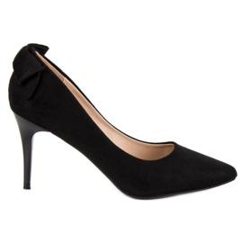 VINCEZA en daim à la mode noir