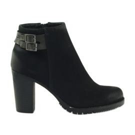 Filippo Chaussures à talons pour femmes avec boucles 8255 noir