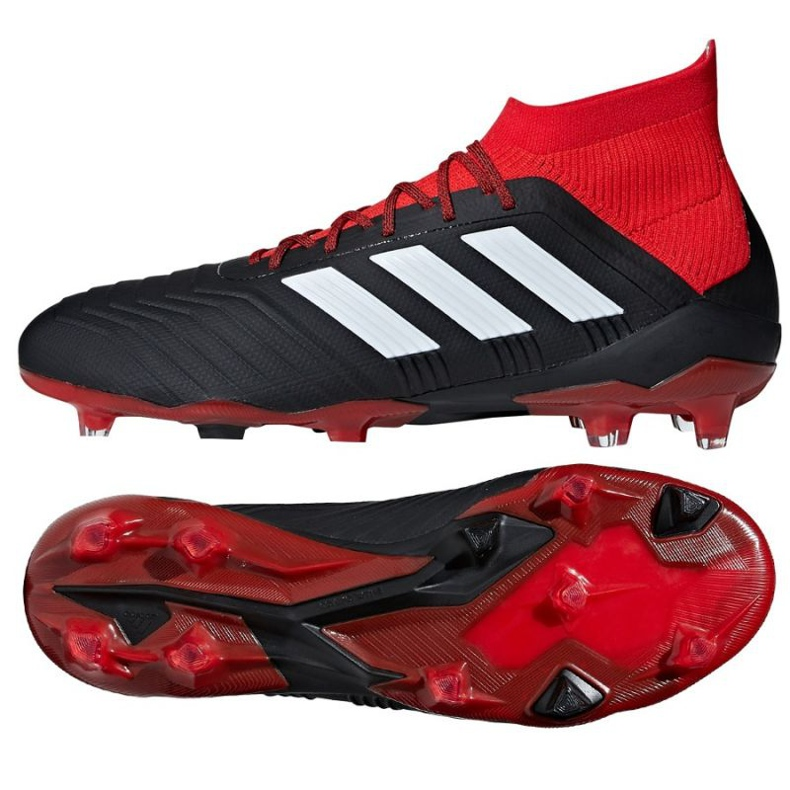 Chaussures de foot adidas Predator 18.1 Fg M noir