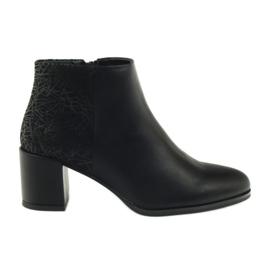 Chaussures noires à talons Sergio Leone 542
