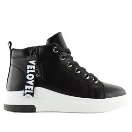 Sneakers à hauteur de cheville noir A29 Black