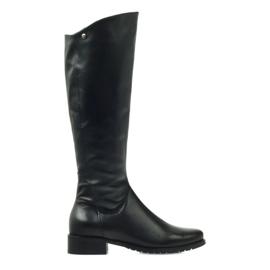 Longues bottes noires Edeo 2206
