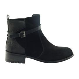 American Club Bottes américaines bottes d'hiver en daim noir