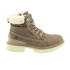 American Club brun Bottes américaines bottines bottes d'hiver 708122
