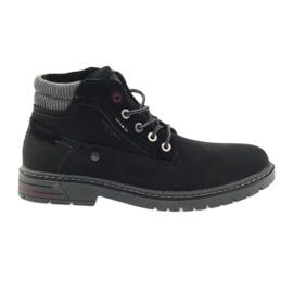 American Club Trappeurs américains chaussures trekking d'hiver noir