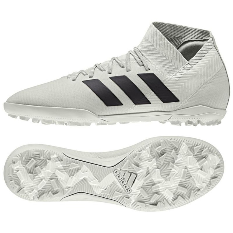 Chaussures de football Adidas Nemeziz Tango 18.3 Tf M DB2212 blanc blanc