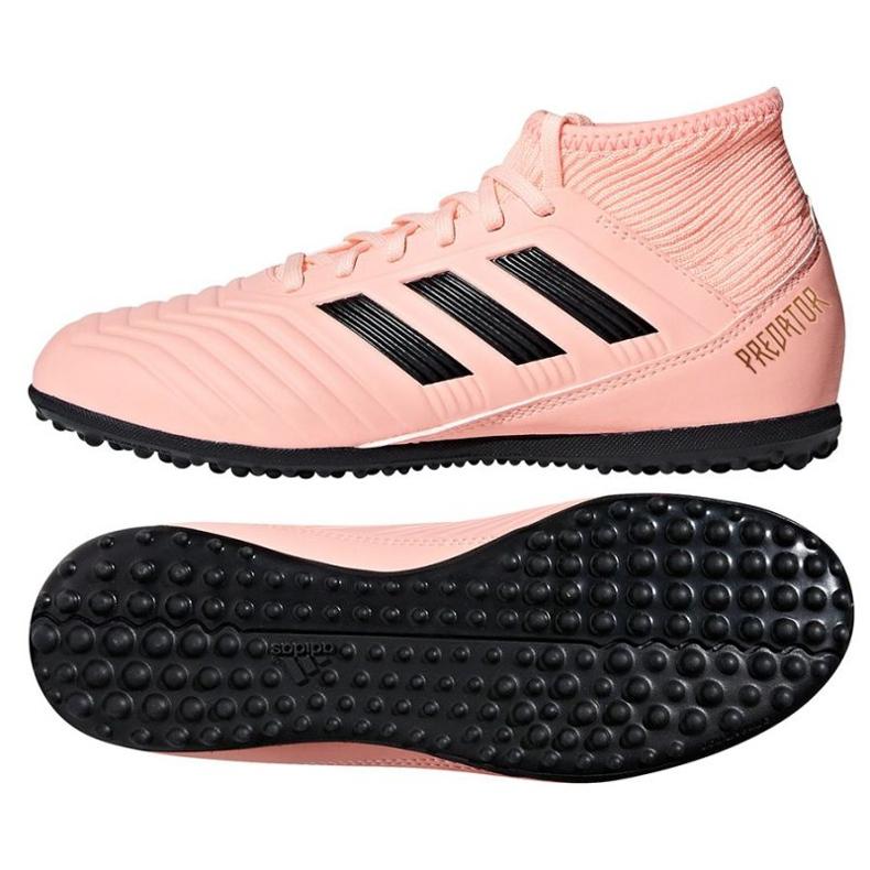 Adidas Predator Tango 18.3 J TF Jr DB2331 chaussures d'intérieur rose