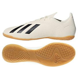 Chaussures Indoor adidas X Tango 18.4 In M blanc