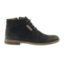 Noir Riko bottes jockies chaussures pour hommes sur la fermeture à glissière