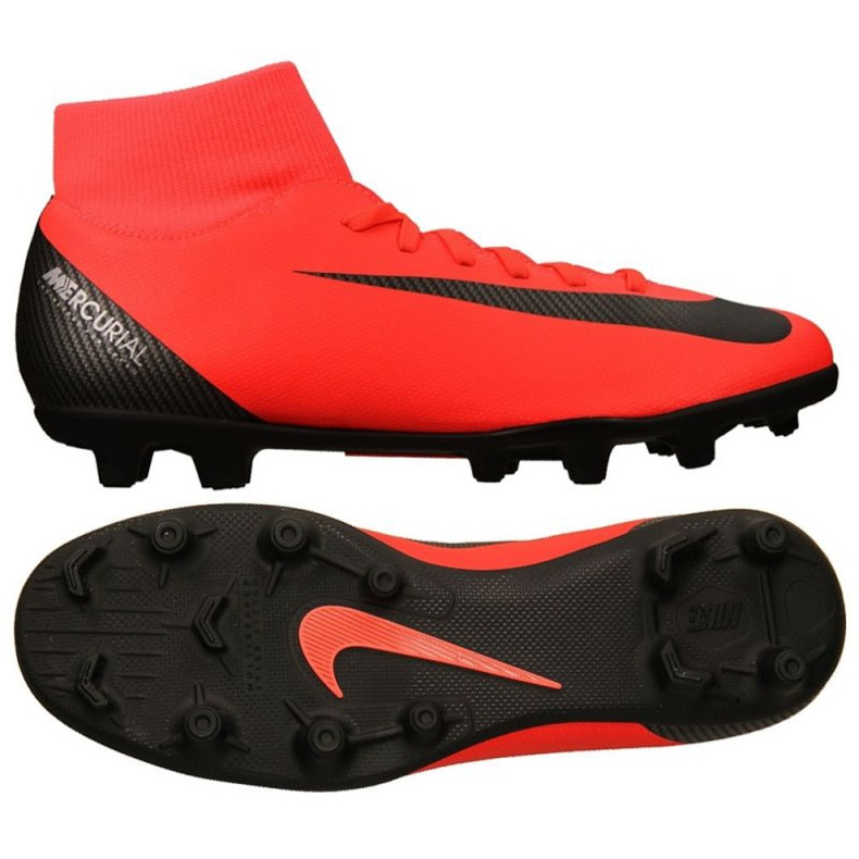 Chaussures de football Nike Mercurial Superfly 6 rouge