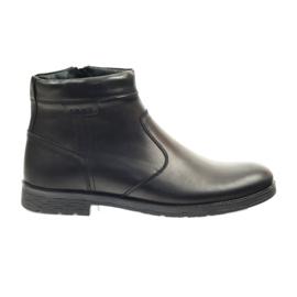 Riko bottines chaussures pour hommes avec fermeture à glissière 825 noir