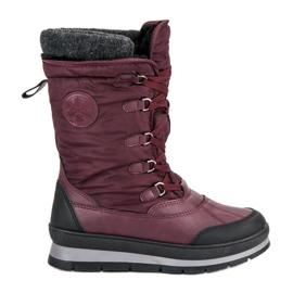 Mckeylor rouge Bottes de neige bordeaux à la mode