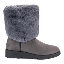 Kylie gris Chaussures d'hiver à la mode