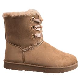 Kylie Bottes de neige attachées brun