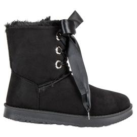 Kylie noir Bottes de neige attachées