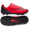 Nike Mercurial Vapor 12 Club Chaussures Ps V CR7 Mg Jr AJ3096-600 rouge noir, rouge