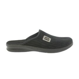 Chaussures Befado pour hommes pantoufles 548m015 noir
