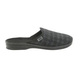 Chaussures Befado pour hommes pantoufles 089M408 noir