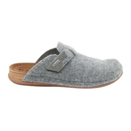 Chaussons sentis attachés Inblu TH014 gris