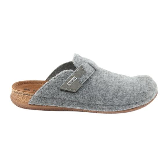 Chaussons sentis attachés Inblu TH014 gris