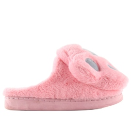Chaussons femme gris rose DD93 W.PINK