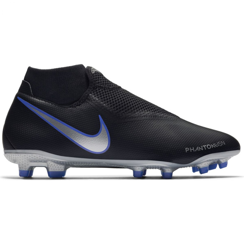 Chaussures de football Nike Phantom Academy Df M FG / MG AO3258-004 noir noir, bleu