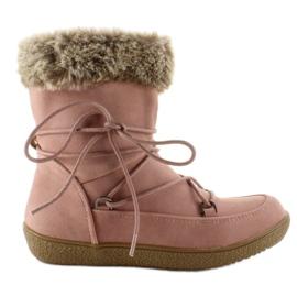 Demi-bottes pour enfants avec fourrure K1647201 Rose