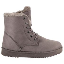 Forever Folie gris Chaussures en daim chaudes
