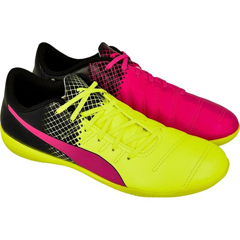 Chaussures Indoor Puma evoPOWER 4.3 Tricks noir, jaune, rose noir